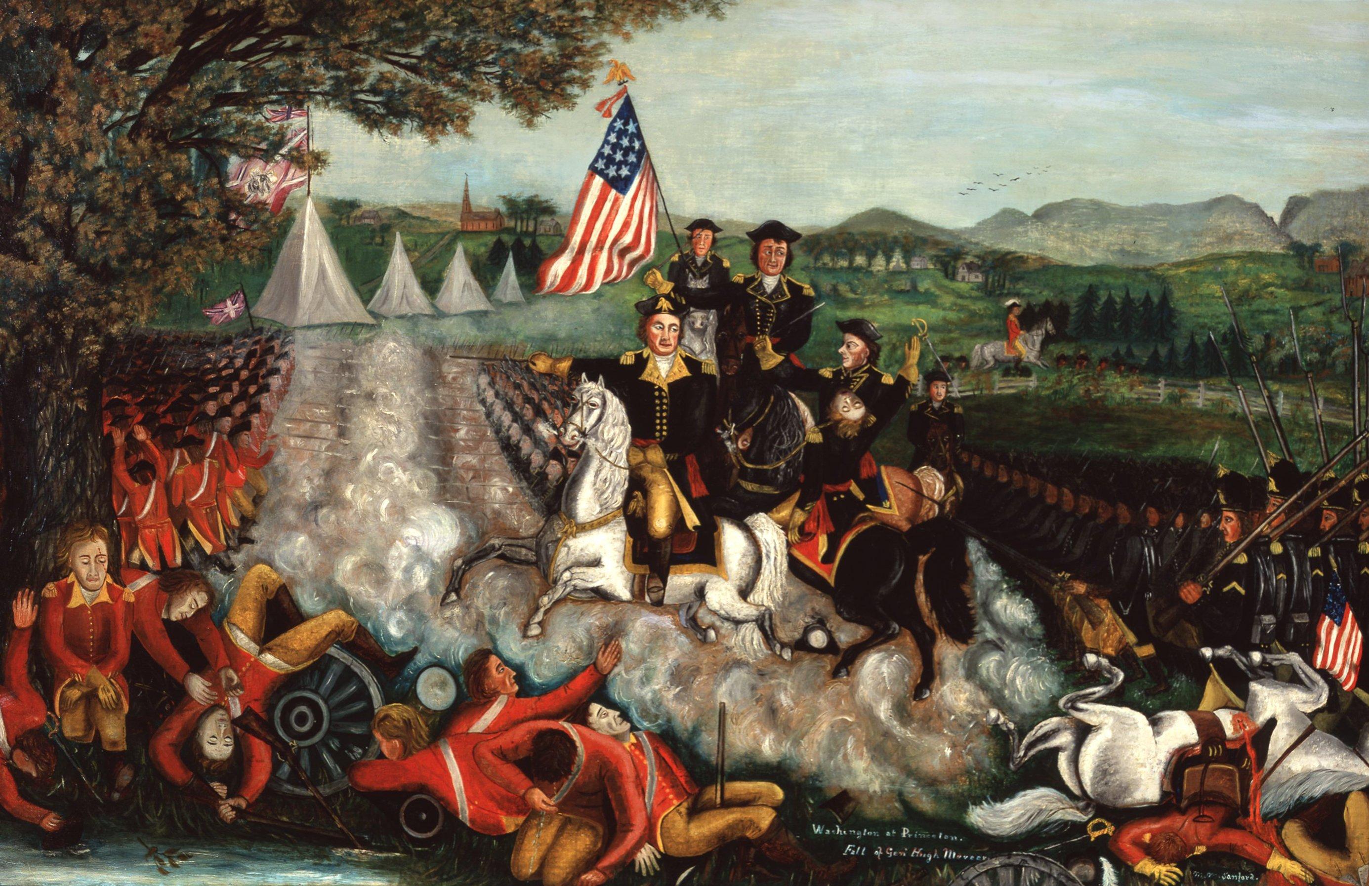Washington at Princeton, Fall of General Hugh Mercer
